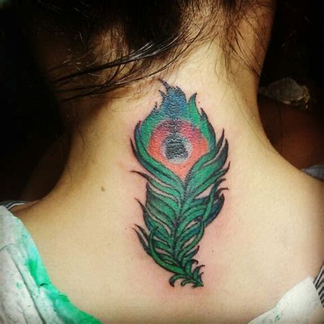 easy tattoo concealer simple peacock feather tattoo cover up tats pinterest