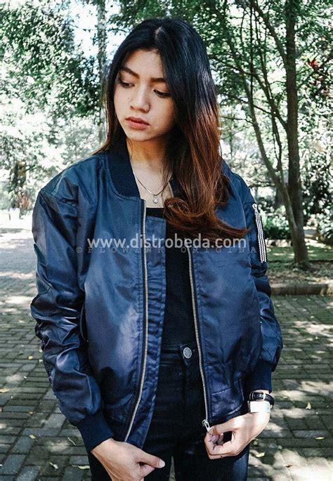 Jaket Bomber Biru Seleracowok jaket bomber wanita murah biru fulcrum jaket muslimah distro beda