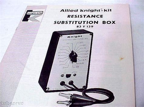 resistor substitution box schematic kit resistance sub substitution box manual manuals schematics