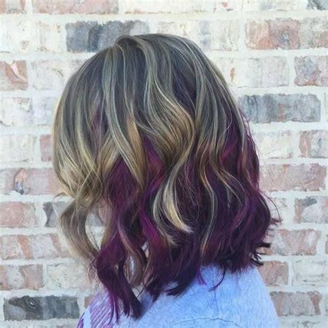 40 versatile ideas of purple highlights for blonde brown 40 versatile ideas of purple highlights for blonde brown and red hair highlights your hair