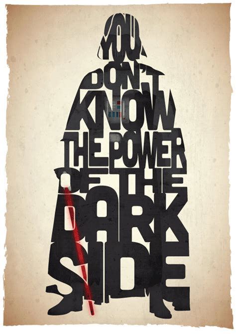 Typographic Star Wars Prints Featuring Iconic Characters | typographic star wars prints featuring iconic characters