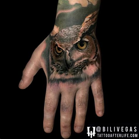 owl finger tattoo 35 awesome owl tattoos ideas golfian
