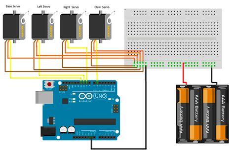 servo motor diagram armuno mearm arduino servo wire schematic