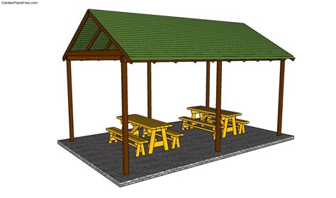 outdoor shelter plans picnic shelter plans