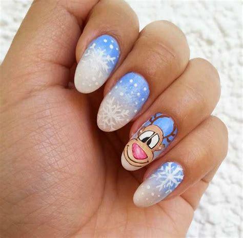 tutorial nail art spugnato nail art con renna e fiocchi di neve tutorial beautydea