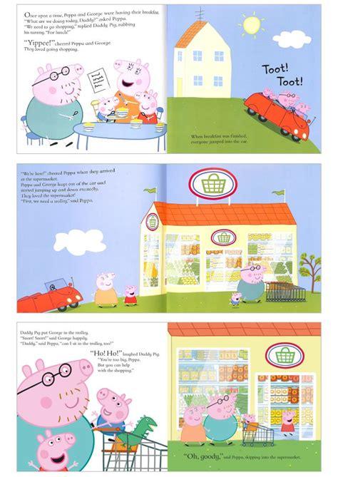 peppa pig lets go b00r3c1u8e peppa pig let s go shopping peppa 佩佩豬逛超市 平裝本故事書 外文書 pchome 24h書店