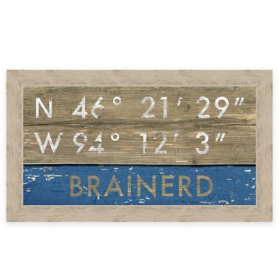 bed bath and beyond woodbury buy retro style framed quot duluth quot map coordinates sign from