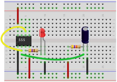 breadboard circuit for 555 timer how to build a delay before turn on circuit with a 555 timer