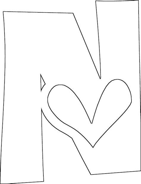 free coloring pages letter n free coloring pages of letter n