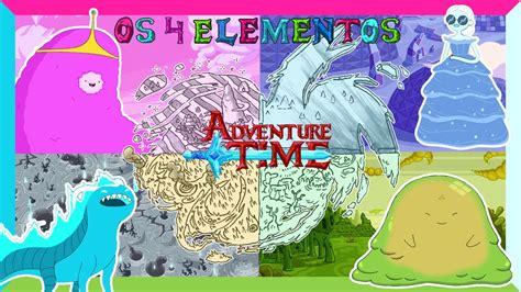 hora de aventura os 4 elementos de ooo adventure time