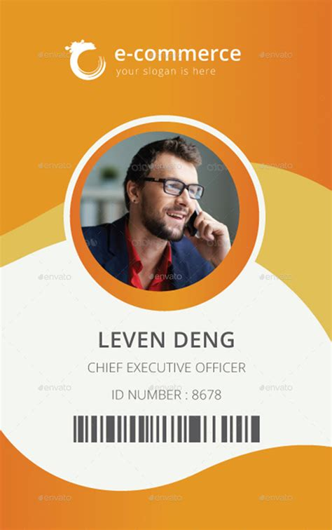 Id Card Design Pdf File | e commerce business office id card by dotnpix graphicriver
