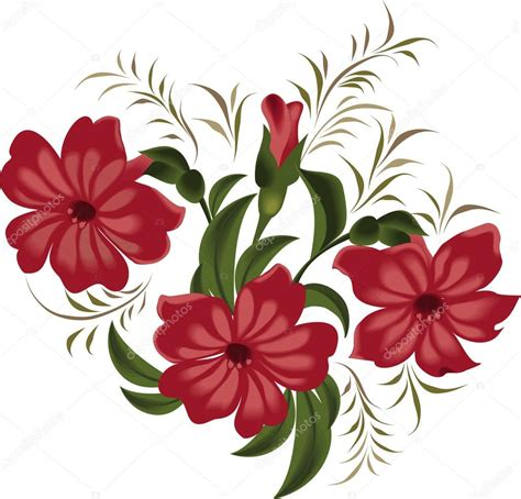 imagenes de rosas rojas vintage ilustraci 243 n vectorial de flores rojas en estilo vintage en