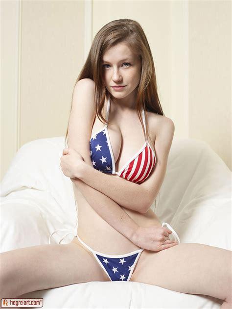 hegre art emily in american flag bikini for hegre art