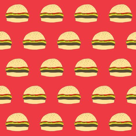 cheeseburger red fabric janellie spoonflower