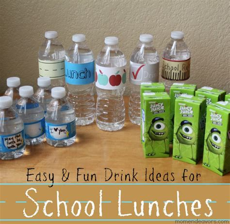 drinks for school convenient drinks for back to school lunches with