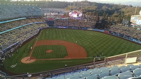 section 50fd dodger stadium dodger stadium top deck 12 rateyourseats com