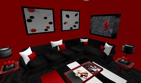 room decore red and black living room peenmedia com