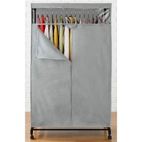 Gray Wardrobe Closet Grey Clothes Closet The Container Store