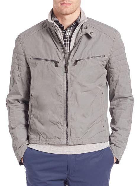 Hoodie Anak Polo 616 polo ralph quilted wax coated canvas jacket in gray