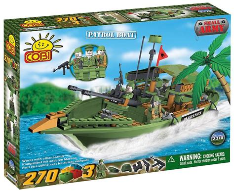 lego boat army bricker construit par cobi 2370 patrol boat