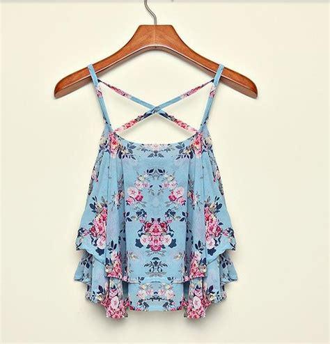 Womens Stylish Black Floral Chiffon Vest aliexpress buy 2015 new spaghetti floral print chiffon shirt vest blouses crop top