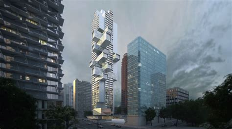 Cladded 51 storey jenga tower is coming to vancouver daily hive