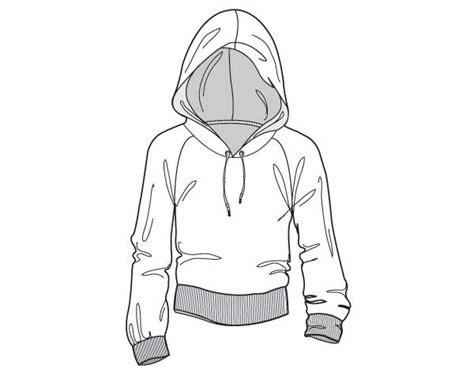 fashion illustration hoodie hoodie flat drawing fashion design hoodie