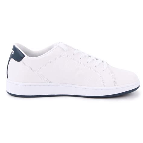 mens white shoes lacoste carnaby lcr mens leather size 7 8 9 10 11 new