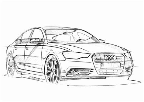 Skizze Auto by Car Design Malaysia 2011 Audi A6 Sketch