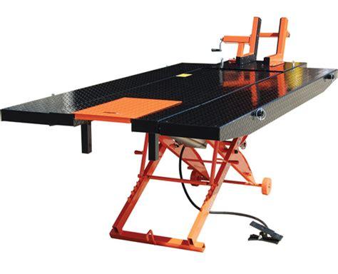 motorcycle air lift bench titan lifts 1000d xlt air motorcycle lift 363 062 j p