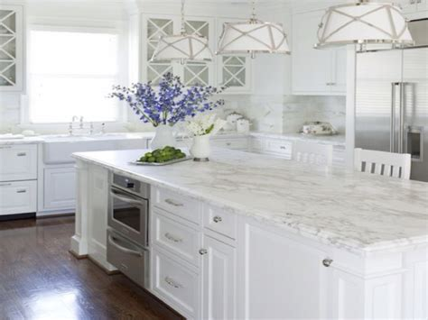 French Kitchen Island Marble Top Carrera Marble Kitchen White Kitchens With Carrara Marble