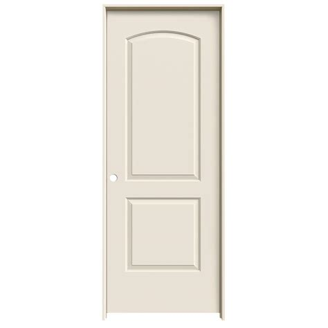 jeld wen 28 in x 80 in molded smooth 2 panel arch primed