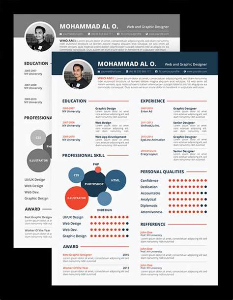 design cv photoshop resume template designs you can download and edit for free