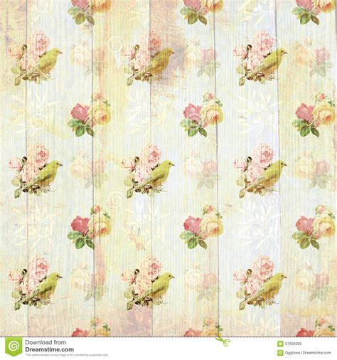 Wallpaper Shabby Vintage vintage shabby floral wallpaper stock illustration image