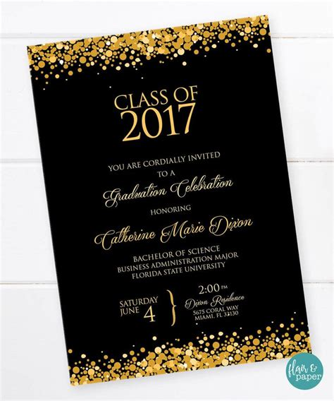 invitation cards templates for graduation 25 best ideas about high school graduation invitations on