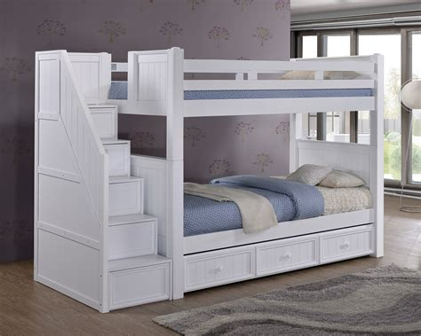 bunk bed storage dillon white twin bunk bed with storage stairs bunk beds with stairs