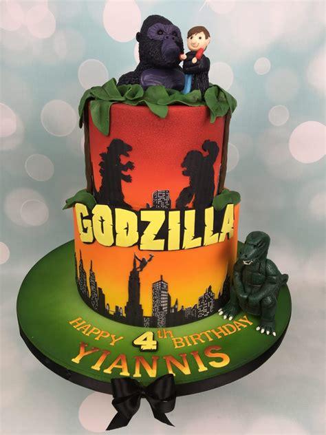 throw back king kong and godzilla cake birthday boy pinterest godzilla and king kong birthday cake and cupcakes mel s