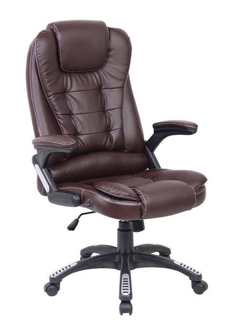leather swivel desk swivel reclining office furniture computer desk in