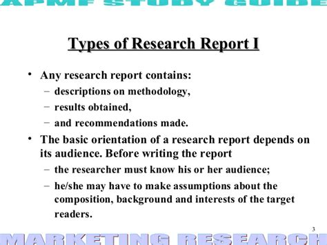 report preparation types and layout of research report research report ppt