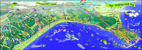 antalya map tourist attractions side tourist map