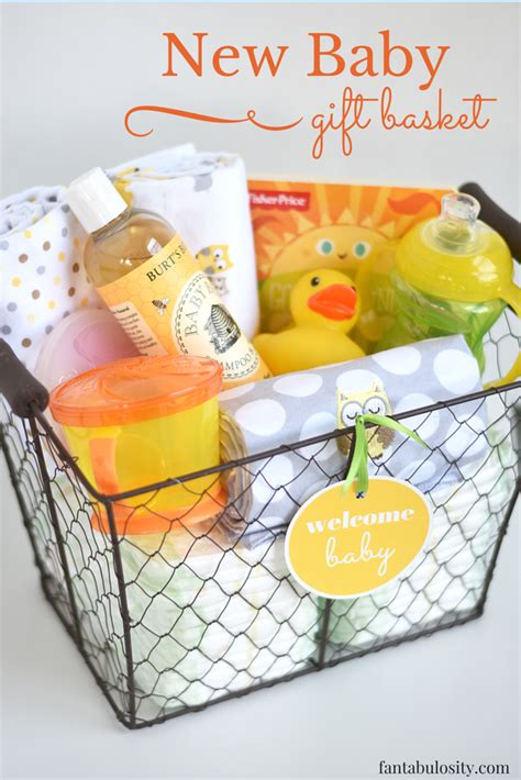 Gift Ideas For From Baby - new baby gift basket fantabulosity