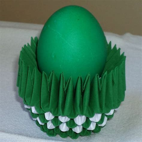 3d origami egg stand tutorial 3d origami art green egg in green egg cup eggs eggs