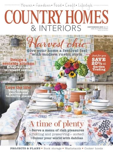 country homes and interiors subscription country homes interiors magazine september 2015