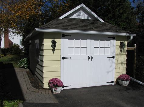 Sheds With Garage Door by Craftsman Style Garage Doors Shed Craftsman With Container