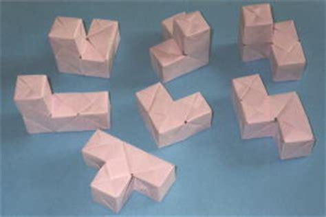 Origami Cube 6 Pieces - puzzle soma cube