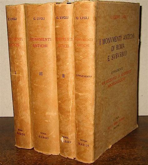 libreria archeologica roma ex libris roma libreria antiquaria lugli giuseppe i