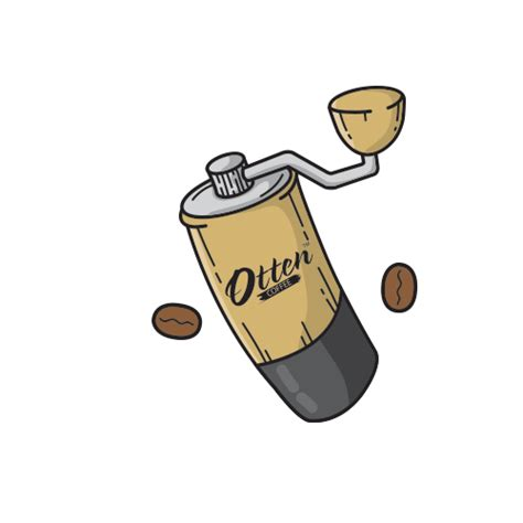 grinder kopi sticker  otten coffee  ios android giphy