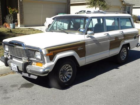 jeep wagoneer white jeep grand wagoneer white 1985