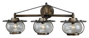 Nautical Bathroom Light Fixtures Vaxcel W0018 Jamestown Nautical Parisian Bronze Finish 10 25 Quot Wide Halogen 3 Light Bathroom