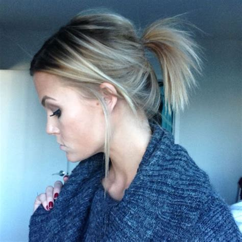 simple cute messy ponytail hairstyles  guide